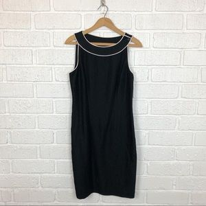 LOFT Black Linen sleeveless dress size 6